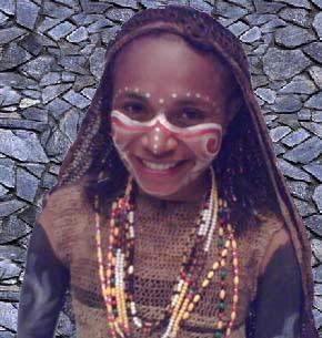 Anak perempuan dari Suku Asmat, Papua.