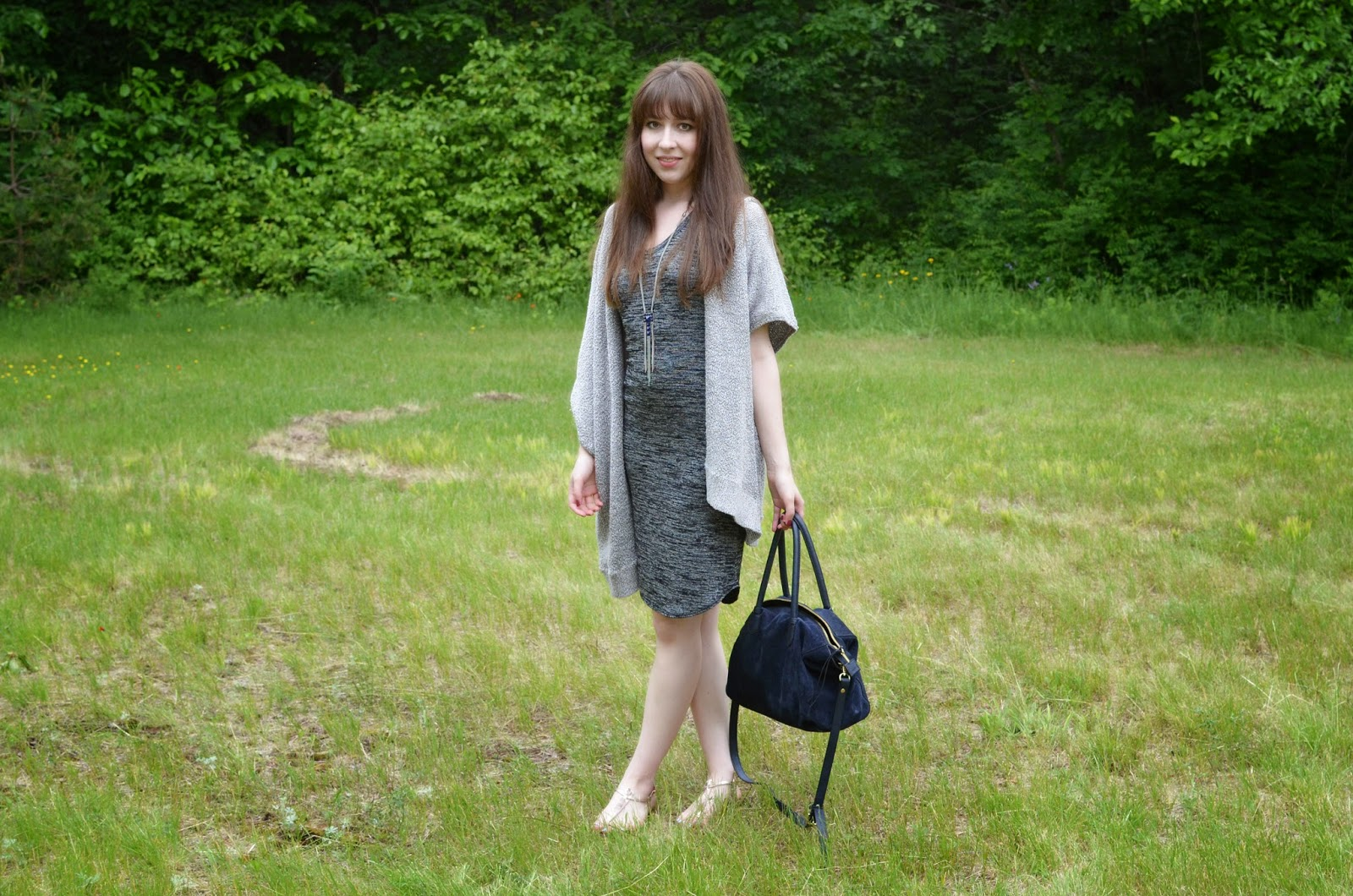 OOTD ft. Aritzia Yasmin dress, Community Ionic Cape, my navy Zara bag, and Sam Edelman GiGi sandals