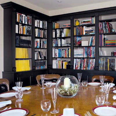 Victoria dreste designs library dining rooms for Dining room bookcase ideas