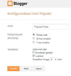 cara membuat popular post keren
