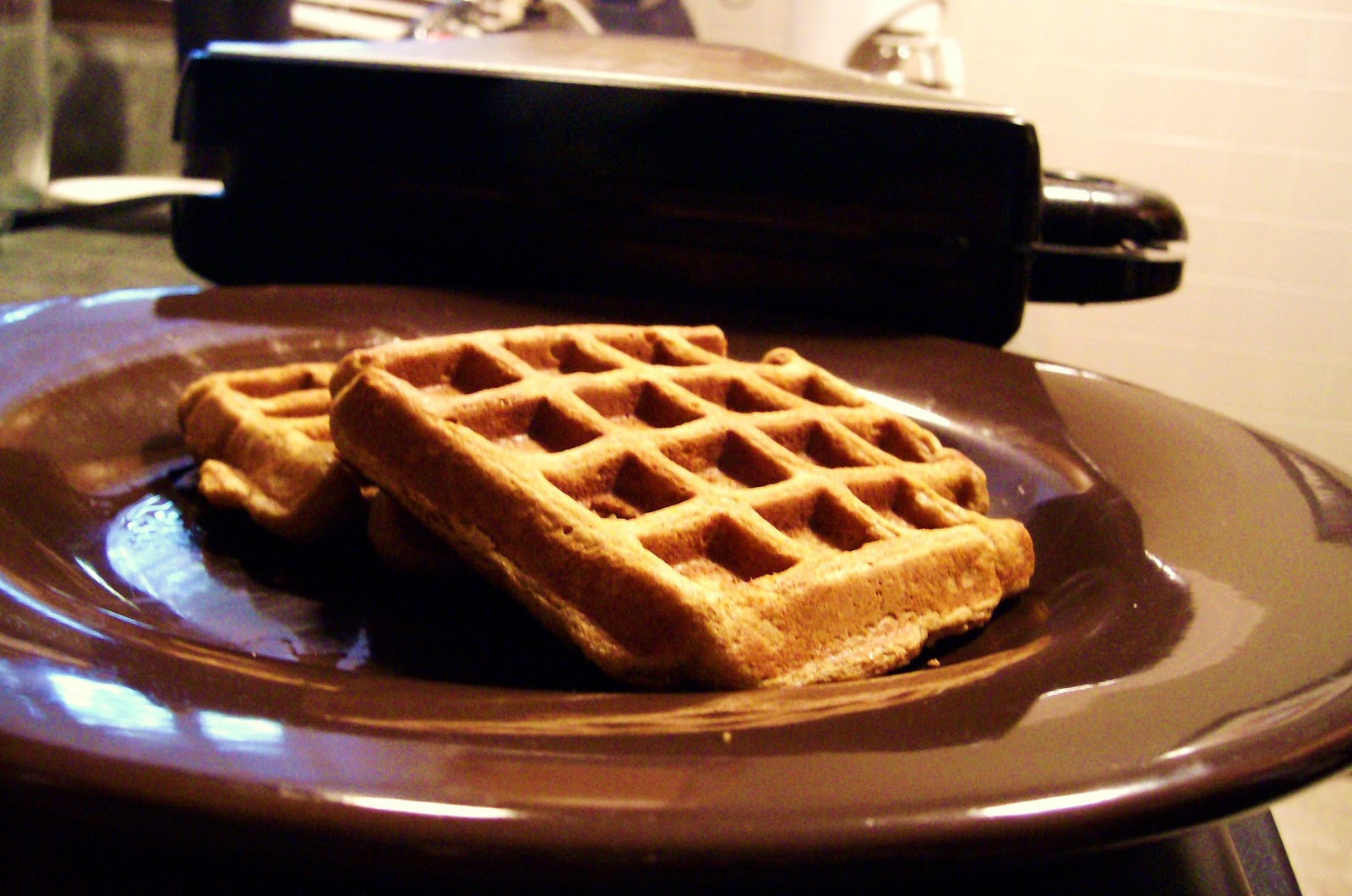 the foodie rd: makeover monday: pumpkin-ginger waffles
