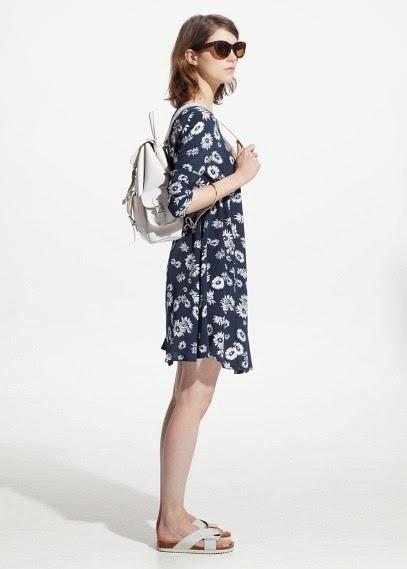 Mango 2015 Elbise Modelleri  çiçekli yazlık mango elbise, şık elbise