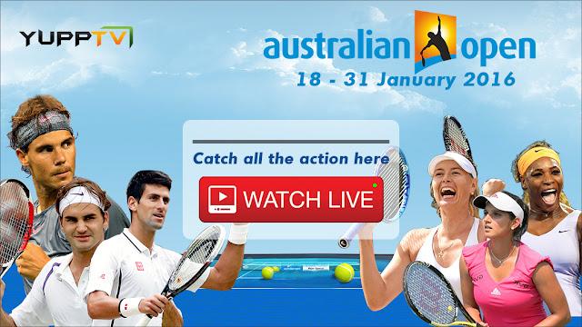 Australian Open 2016 live streaming