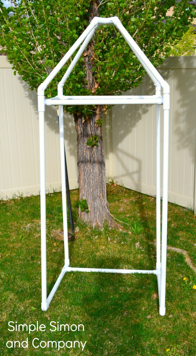 Diy Pvc Pipe Summer Cabana Tutorial Simple Simon And Company