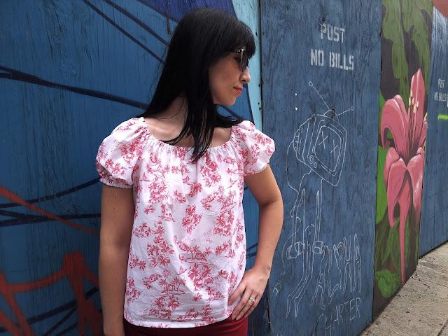 Hawaiian peasant blouse my projects bobbins and bombshells