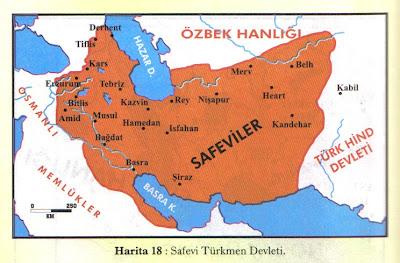 Safeviler (1502–1736) haritasi
