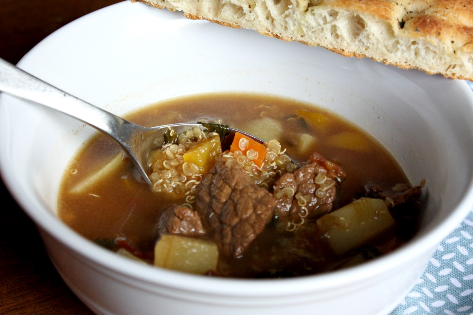 Beef, Potato and Quinoa Soup | What's For Dinner?