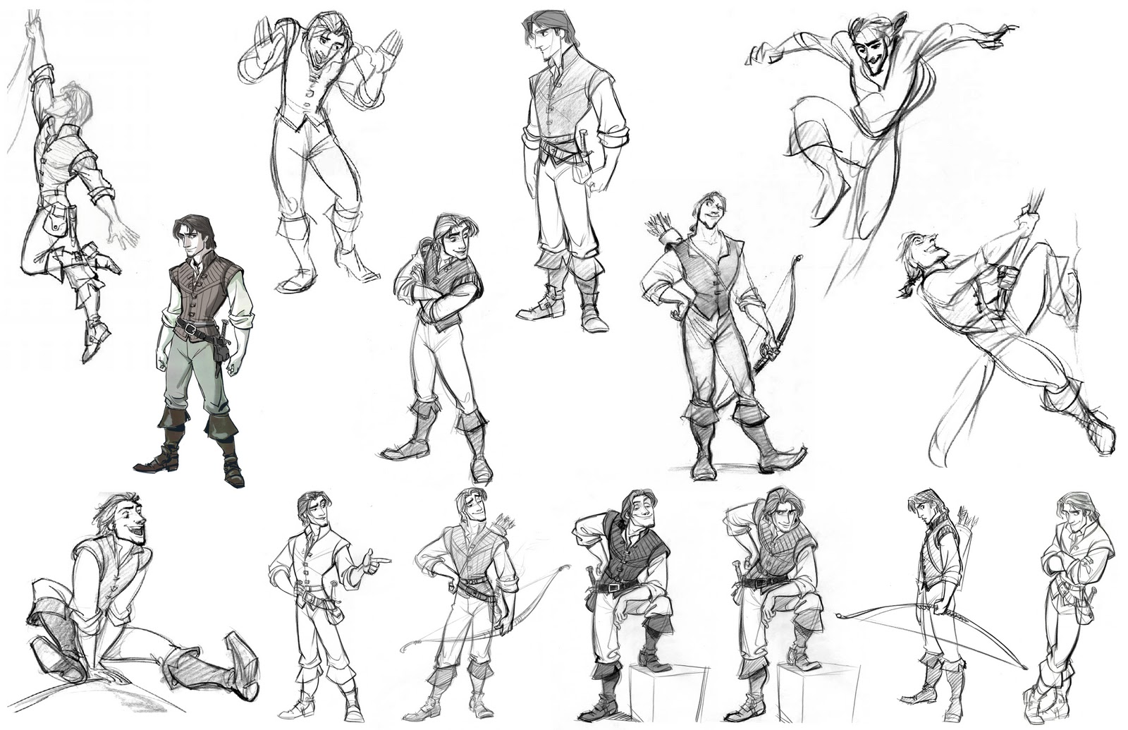Character Conceptual Design : Cartoon concept design tangled sketches and characters