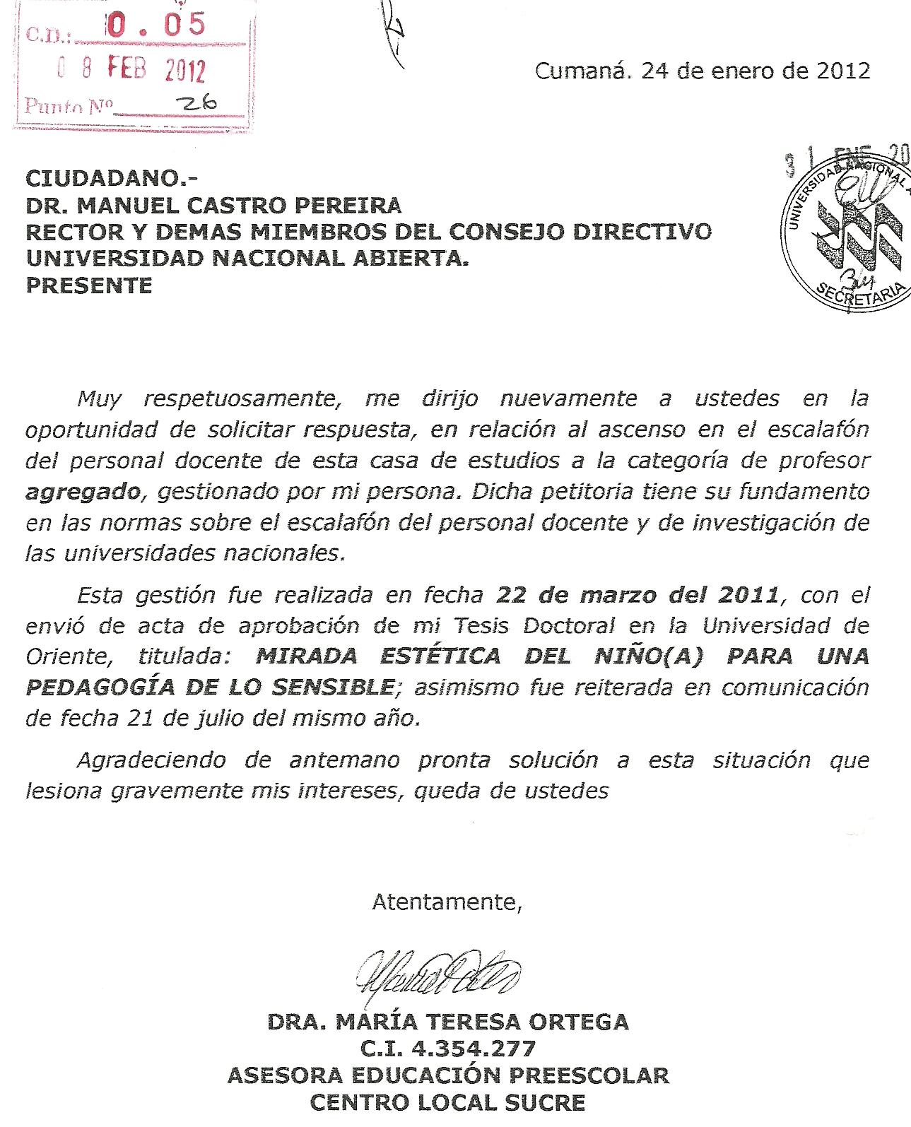 Representaci n del mppeuct en el consejo directivo de la for Solicitud de chequera banco venezuela