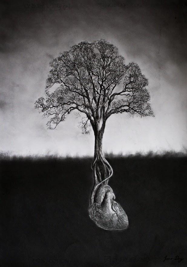 I need a guide: jono d... Tree Pencil Drawing