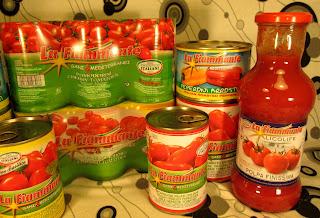 mezze maniche con code di gambero e pomodorini la fiammante