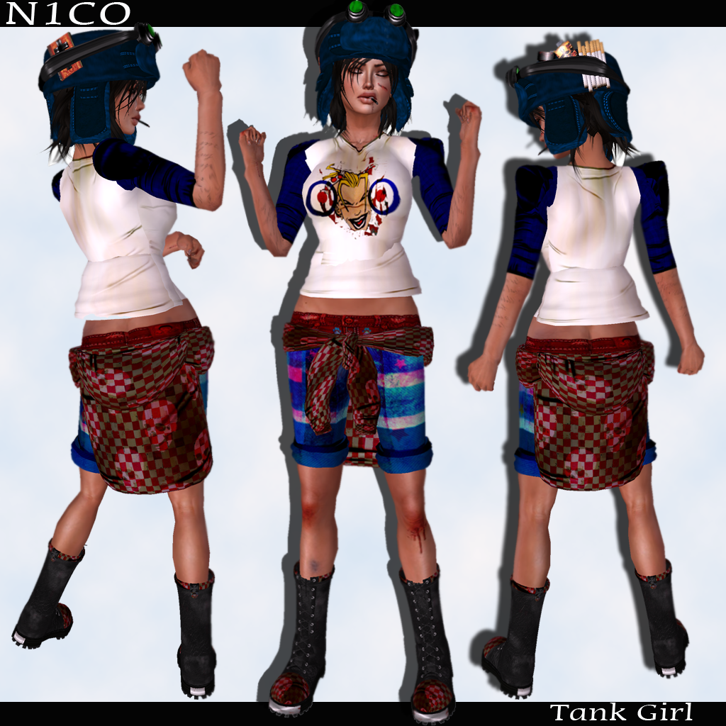 N1CO - SECOND LIFE FASHION N1CO - Tank Girl - Complet Outfit
