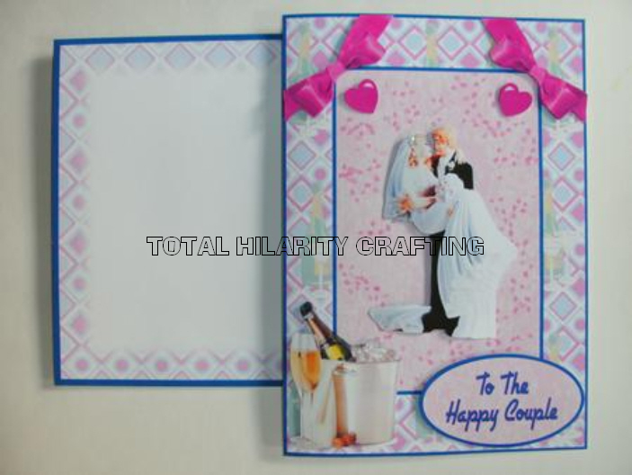 Here is the card and envelope from my Retro Wedding Card Kit made by