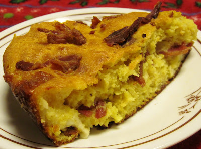 cornbread with bacon & cheese