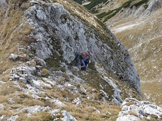 Fast geschafft - das letzte steile Stück vor dem Gipfel