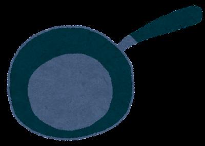 調理器具のイラスト「フライパン・深め」
