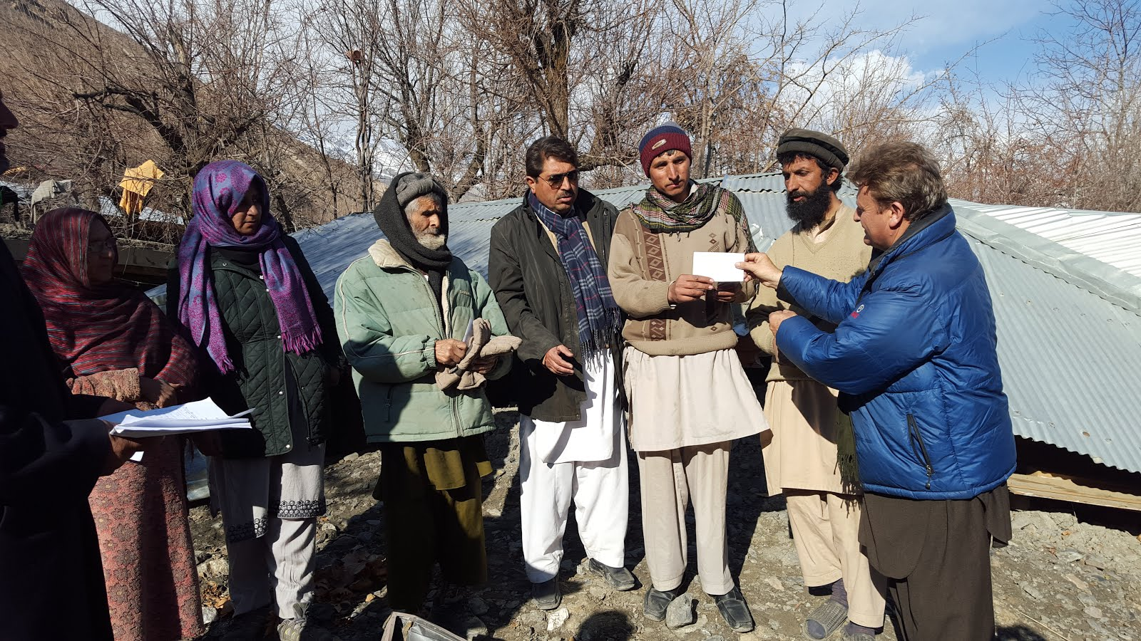 AHF RELIEF AID IN MUJGOL MULKHOW UPPER CHITRAL