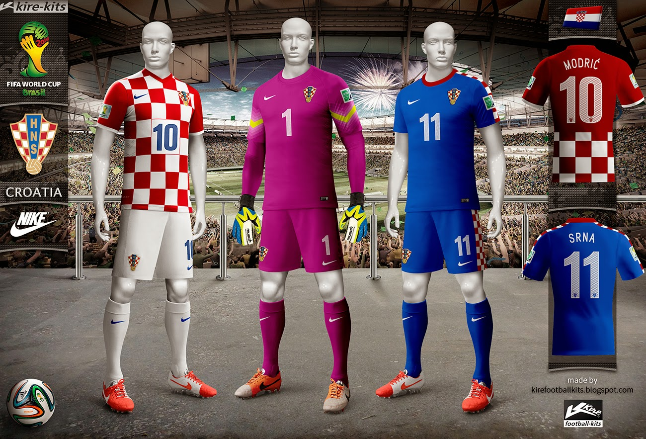 0c9e70799 Kire Football Kits  Croatia kits World Cup 2014