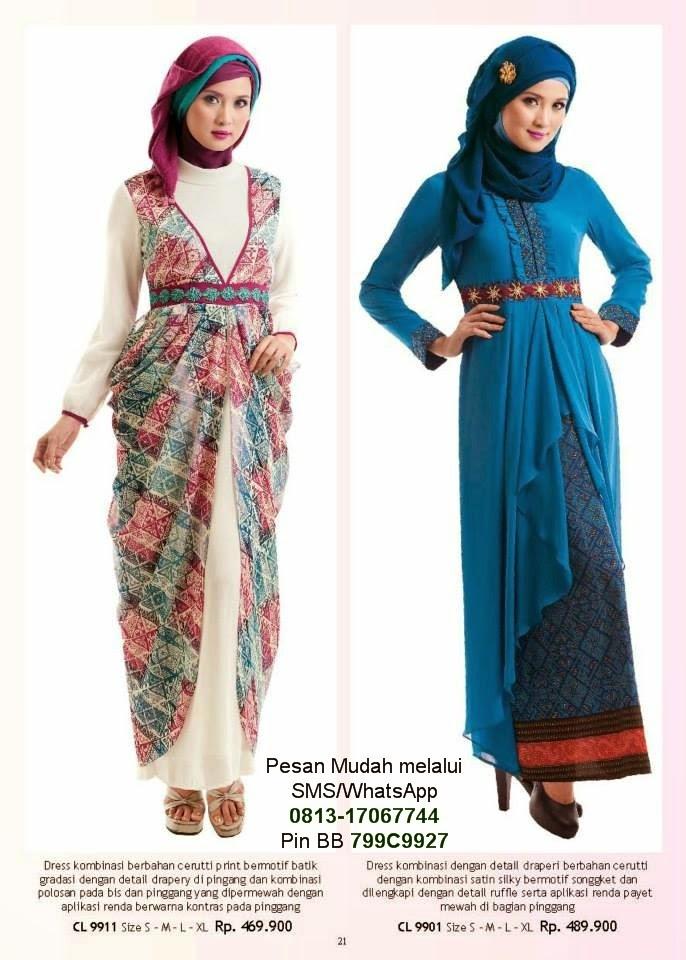 Baju gamis terbaru 2014 cantik berbaju muslim Gambar baju gamis pesta 2014