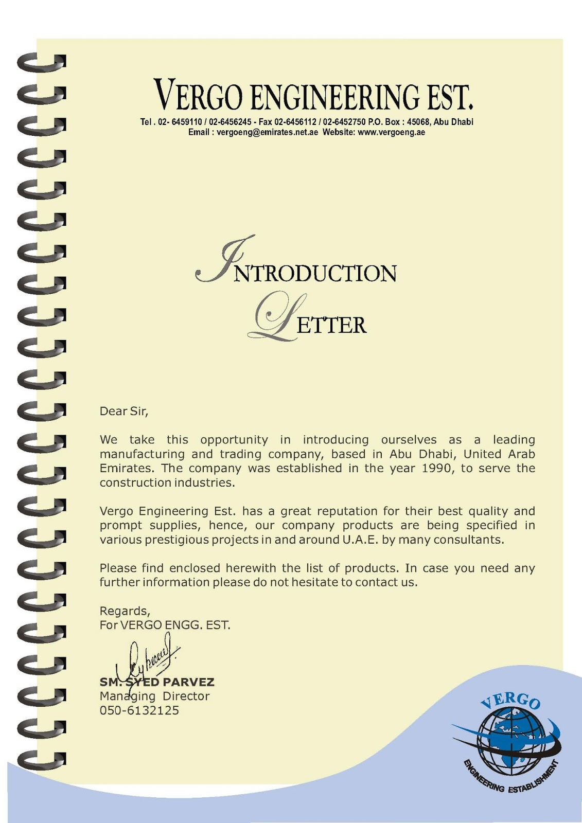 Format For Introduction Letter Of Company Images  Letter Format