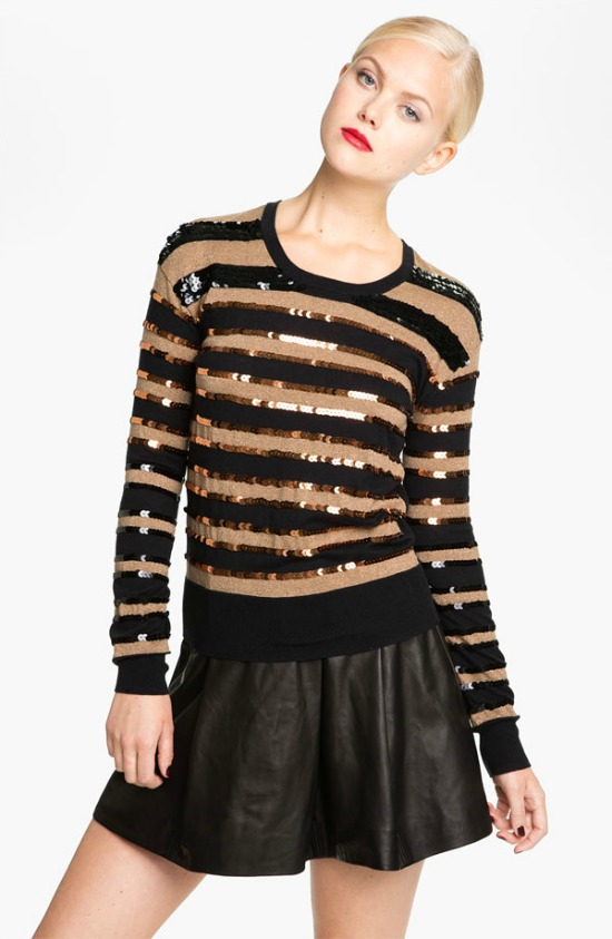 MARC BY MARC JACOBS 'Kay' Sequin Stripe Sweater