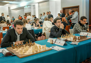L'équipe de France d'échecs à Varsovie - Photo © site officiel