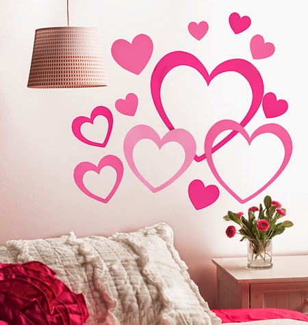 heart wall decal for girls rooms