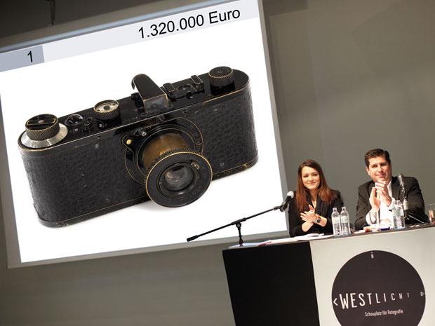 Leilão da câmera Leica