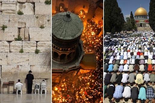 Resultado de imagen para tierra santa, sitio de peregrinación para judíos, cristianos y musulmanes
