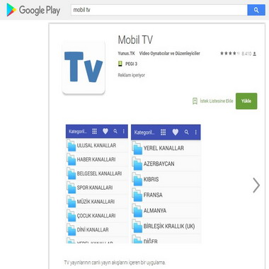 play google com - mobil tv