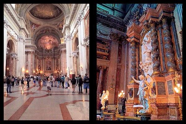 Wnętrze kościoła św. Ignacego w Rzymie