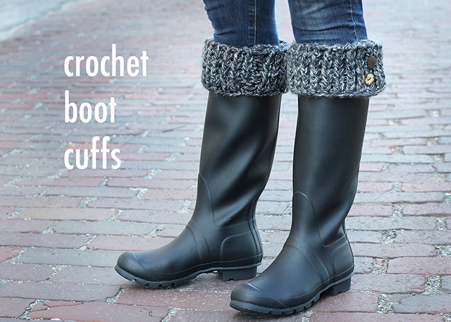 DIY Crocheted Boot Cuffs