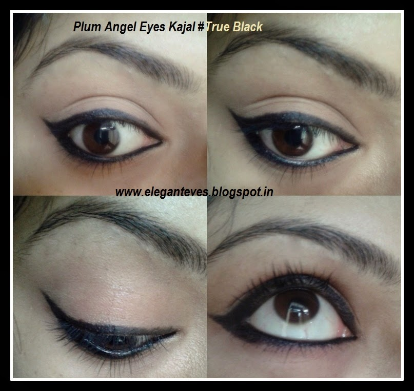 Plum Angel Eyes Kajal #True Black and a comparison with other kajals