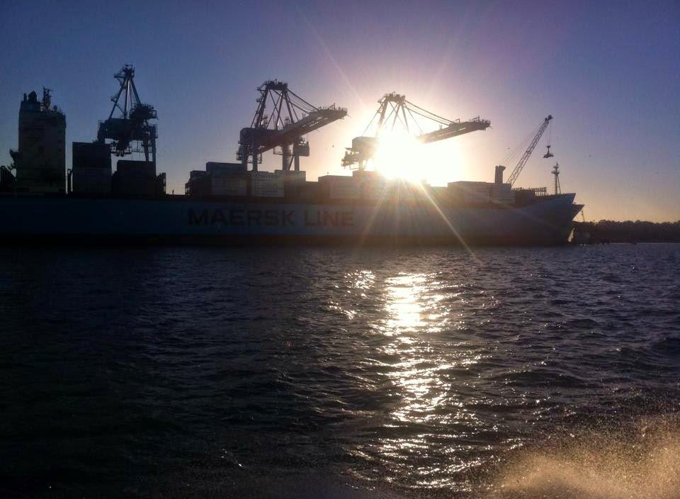 Navio no Porto de Rio Grande