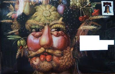 Fruit Face Mail Art