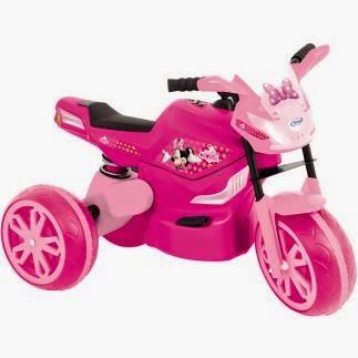Moto Elétrica Minnie infantil para meninas com faróis de Led