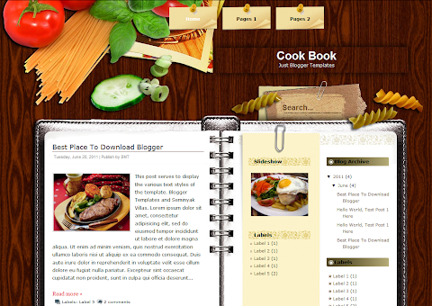 Cook Book Blogger Theme