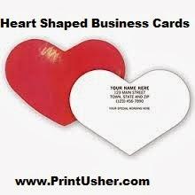 Custom shape business cards heart shaped business cards for Heart shaped business cards