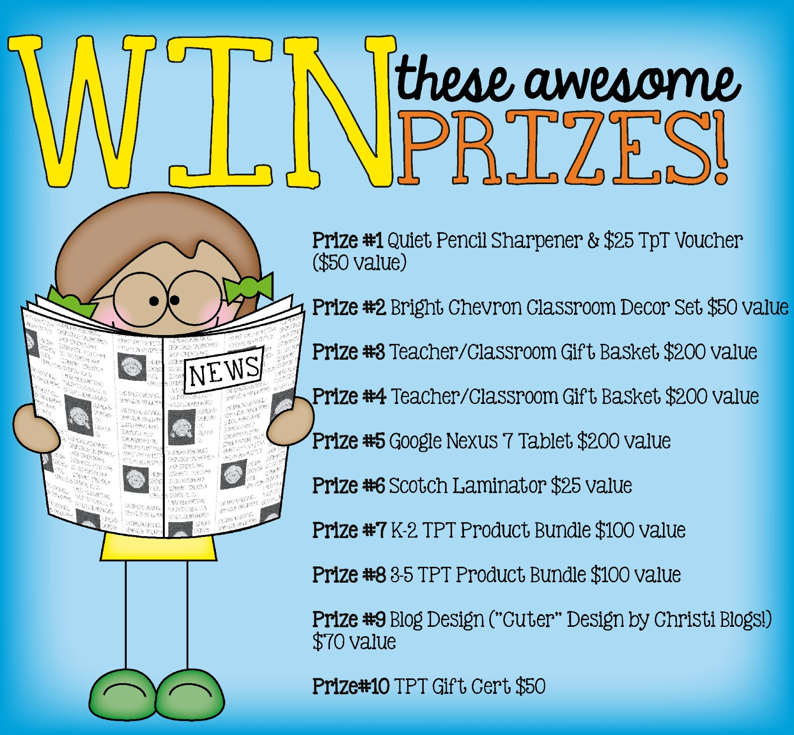 Classroom Prize Ideas ~ Back to school exclusive freebies with prizes