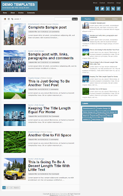 TheTuts Blue Blogger Template