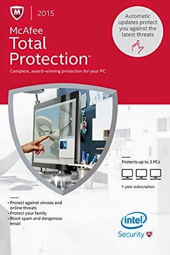 McAfee Total Protection 2015 - Contrôle parental et des outils de sécurité performants