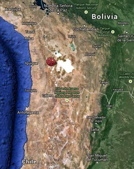 EPICENTRO SISMO BOLIVIA, 23 DE JULIO 2014