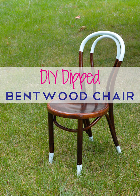 diy bentwood paint dipped  chair