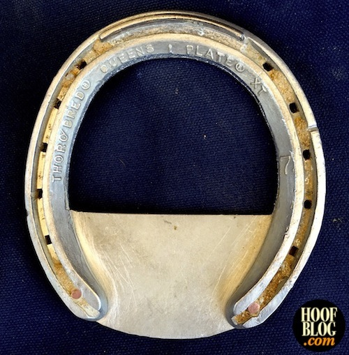 Hoofcare Confidential explains Wes Champagne frog plate for American Pharoah horse hoof injury