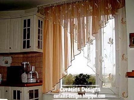 Modern curtain designs ideas for kitchen windows 2014 for 3 window curtain design
