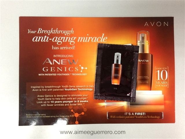 ANEW Genics Treatment Concentrate   Avon Glamourbox