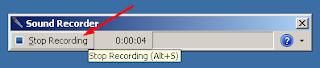 Mengentikan Rekaman dengan Klik Stop Recording