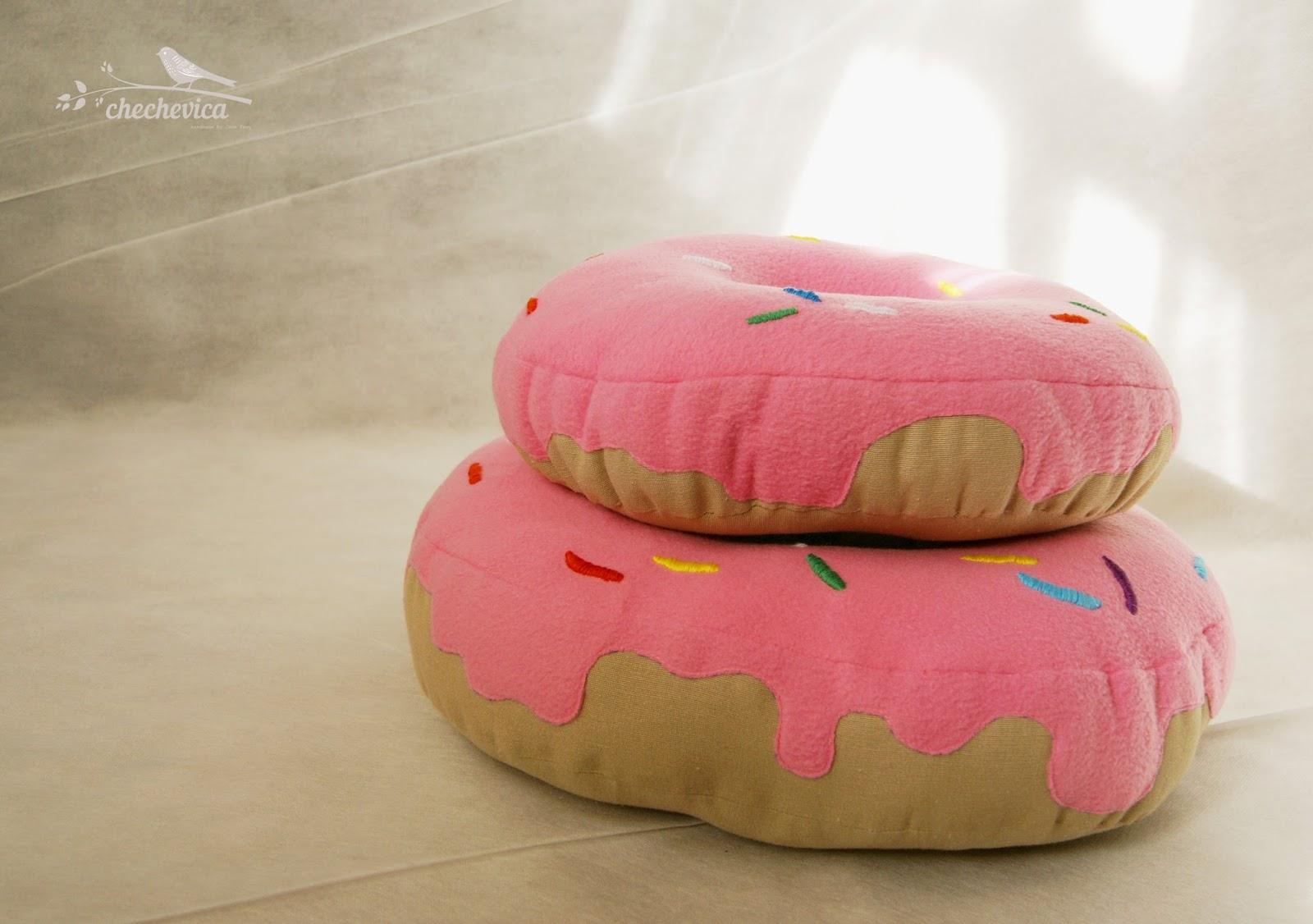 Выкройка на подушку пончик