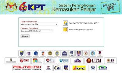 Permohonan Online Kemasukan UPU IPTA 2013/2014