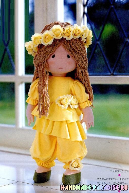 Текстильная японская кукла своими руками